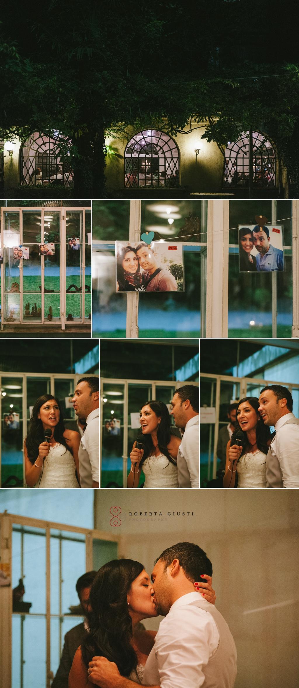 Fotografo matrimonio festa bacio sposi