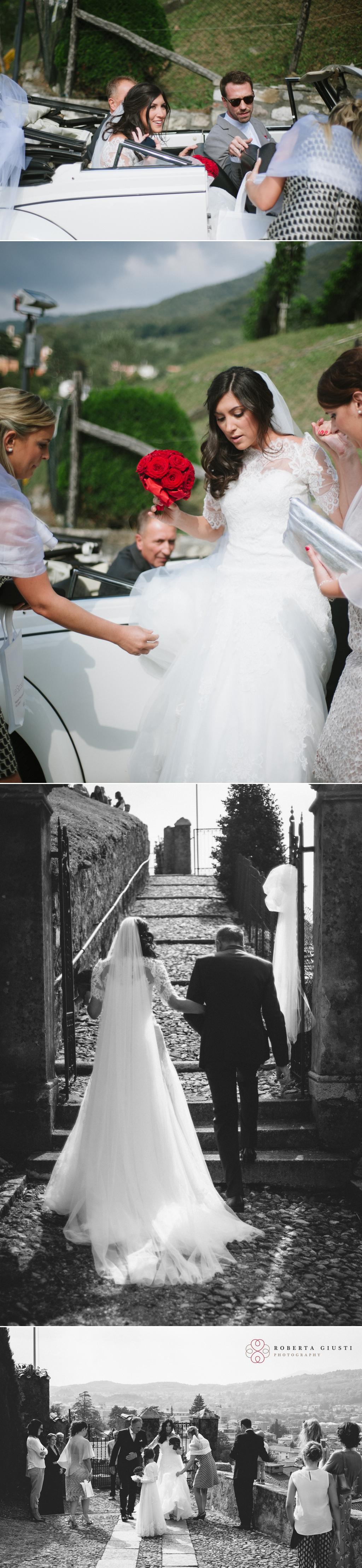 Fotografo matrimonio arrivo sposa