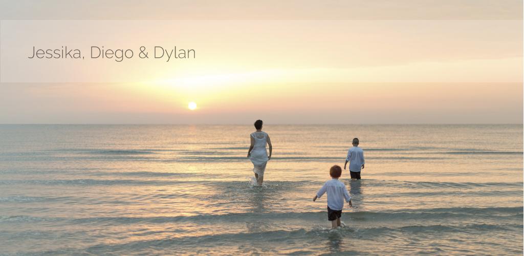 Jessika, Diego & Dylan | Servizio fotografico famiglia all'alba a Cervia
