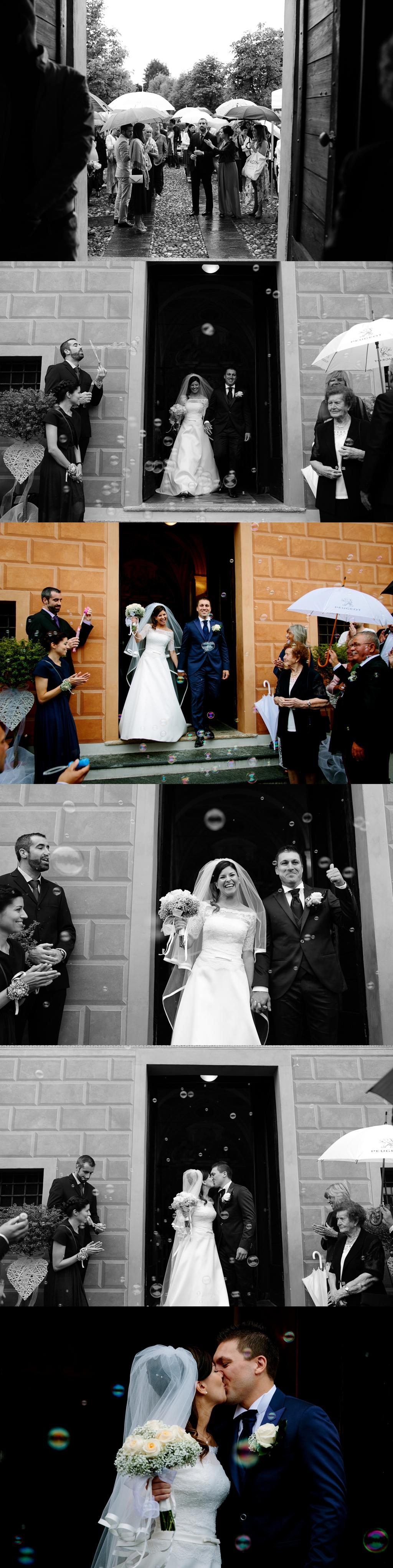 fotografo matrimonio uscita chiesa bolle sapone